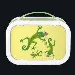"""Lindo lagarto verde, lizard lunch box<br><div class=""""desc"""">Lonchera,  lunch box. Lagarto,  Ilustraci&#243;n Myrarte</div>"""