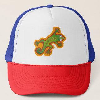 Lindo lagarto verde trucker hat
