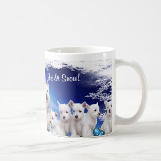 ¡Lindo, lindo! El perrito de Westie lo dejó nevar Taza Clásica