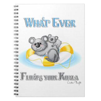 LINDO lo que flota su koala Spiral Notebooks