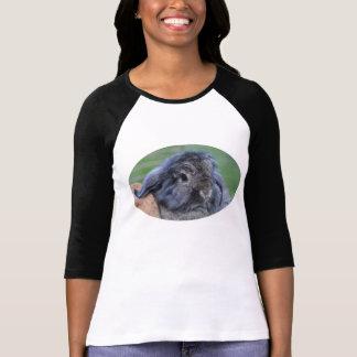 Lindo lop la camiseta espigada del conejo playeras