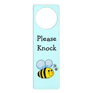 lindo manosee el dibujo animado de la abeja - golp colgante para puerta