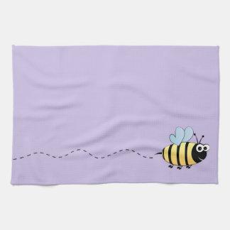 Lindo manosee el dibujo animado de la abeja toalla