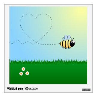 Lindo manosee el dibujo animado de la abeja vinilo adhesivo