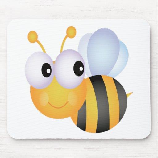 Lindo manosee la abeja alfombrillas de ratones