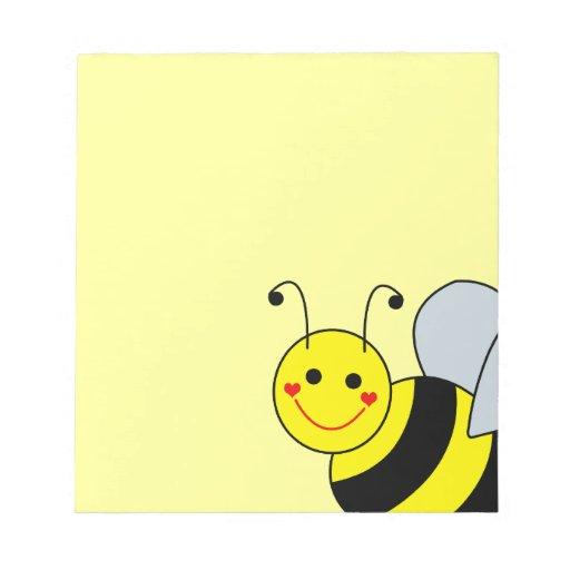 Lindo manosee la abeja bloc de papel