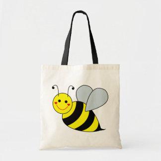 Lindo manosee la abeja bolsa lienzo