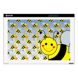 Lindo manosee la abeja calcomanía para portátil