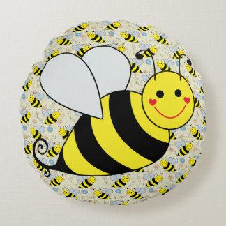 Lindo manosee la abeja con el modelo cojín redondo