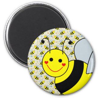 Lindo manosee la abeja imán redondo 5 cm