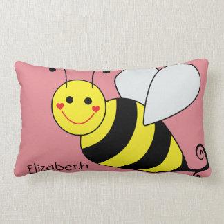 Lindo manosee la abeja personalizada cojín