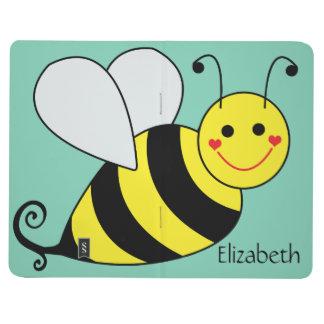 Lindo manosee la abeja personalizada cuadernos grapados