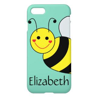Lindo manosee la abeja personalizada funda para iPhone 7