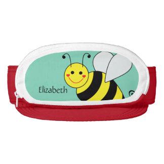Lindo manosee la abeja personalizada visera