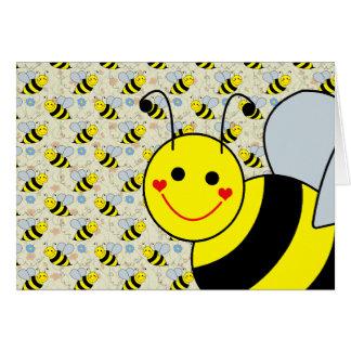 Lindo manosee la abeja tarjeta de felicitación