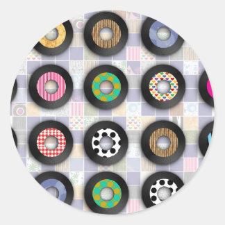Lindo modelado 45 expedientes pegatina redonda