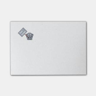 Lindo no olvide las Poste-Él-Notas del elefante Post-it Notas