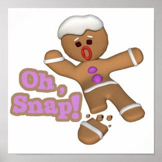 lindo oh, galleta rápida del hombre de pan de jeng póster