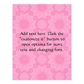 """Lindo palidezca - el caleidoscopio floral rosado folleto 8.5"""" x 11"""""""