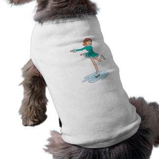 lindo patinaje artístico el chica del dibujo anima playera sin mangas para perro