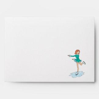 lindo patinaje artístico el chica del dibujo anima