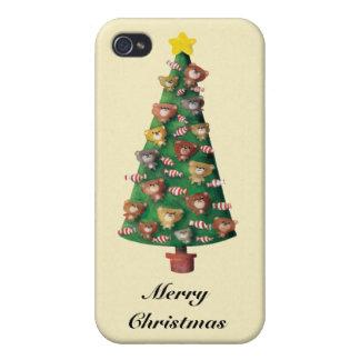 Lindo refiere el árbol de navidad iPhone 4 protector