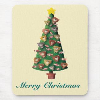 Lindo refiere el árbol de navidad tapetes de raton