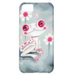 Lindo rosado femenino de la rana
