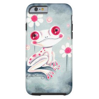 Lindo rosado femenino de la rana funda de iPhone 6 tough