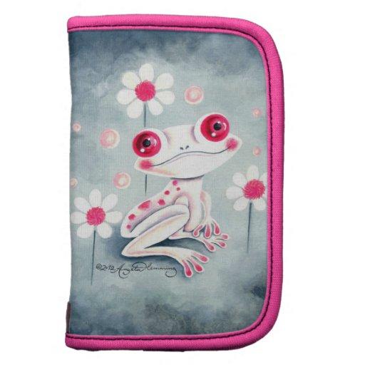 Lindo rosado femenino de la rana organizadores