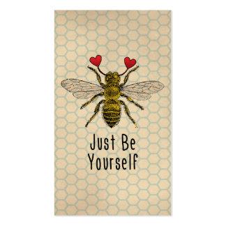 Lindo sea usted mismo abeja tarjetas de visita
