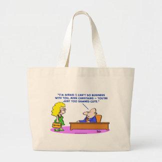 lindo también maldecida del negocio bolsas lienzo