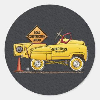 Lindo venda puerta a puerta el camión venden pegatina redonda