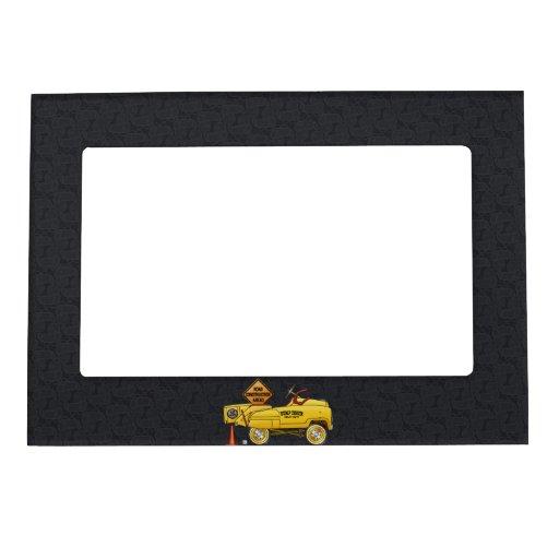 Lindo venda puerta a puerta el camión venden puert marcos magnéticos de fotos