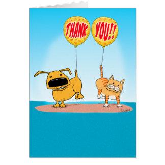 Lindo y divertido gracias cardar tarjeta de felicitación
