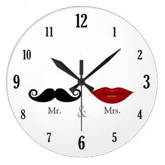 Lindo y divertido - Sr y señora Lips y bigote Relojes