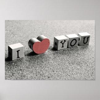 """Lindo """"yo corazón usted"""" impresión del poster"""
