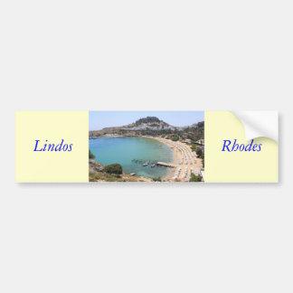 Lindos Car Bumper Sticker