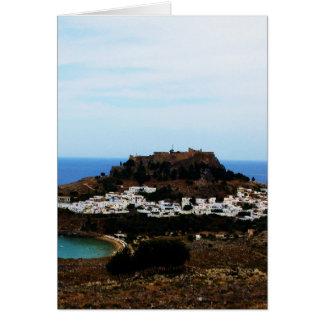 Lindos, Rhodes, Greece Card