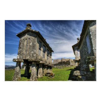 Lindoso granaries and the castle poster