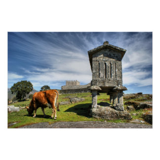 Lindoso granaries and the castle posters