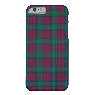 Lindsay Clan Maroon and Green Tartan Barely There iPhone 6 Case