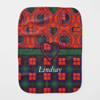 Lindsay clan Plaid Scottish tartan Burp Cloth