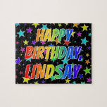"[ Thumbnail: ""Lindsay"" First Name, Fun ""Happy Birthday"" Jigsaw Puzzle ]"