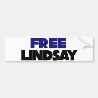 Lindsay libre pegatina para auto