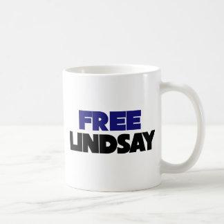 Lindsay libre taza clásica