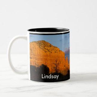 Lindsay on Moonrise Glowing Red Rock Mug