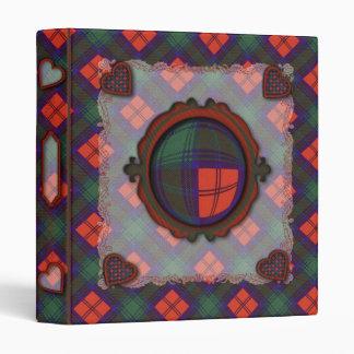 Lindsay Scottish clan tartan Binder