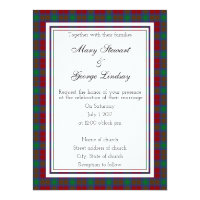 Lindsay Scottish Wedding Invitation