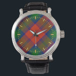 "Lindsay Tartan Watch<br><div class=""desc"">TARTAN LINDSAY  A tartan plaid associated with the name Lindsay shown here in its traditional colors.</div>"
